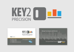 Key2 Precisions logo and business card design