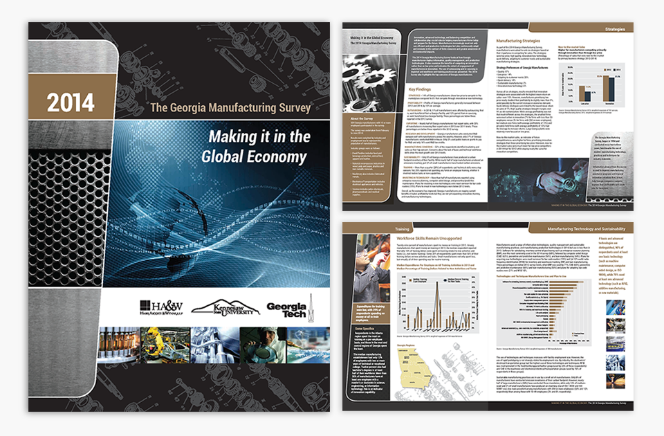 Georgia Manufacturing Survey brochure design